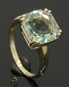 9-Carat-Yellow-Gold-Green-Stone-Solitaire-Ring-Size-P-9CT-80-17-526