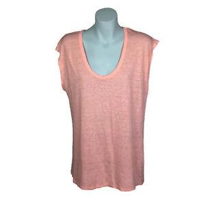 89d54df2d47595 Witchery Womens Top Size L Pink Cap Sleeve Sheer Tank Textured