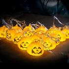 16 Pumpkins LED String Light Pumpkin Lights for Halloween Decoration Party 2017