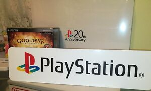 """Sony PlayStation Display, Sony PlayStation Aluminum Sign, PS1 PS One 6""""x24""""."""