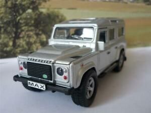 PERSONALISED PLATE 4x4 SILVER LAND ROVER DEFENDER Model Boy Dad Birthday Present