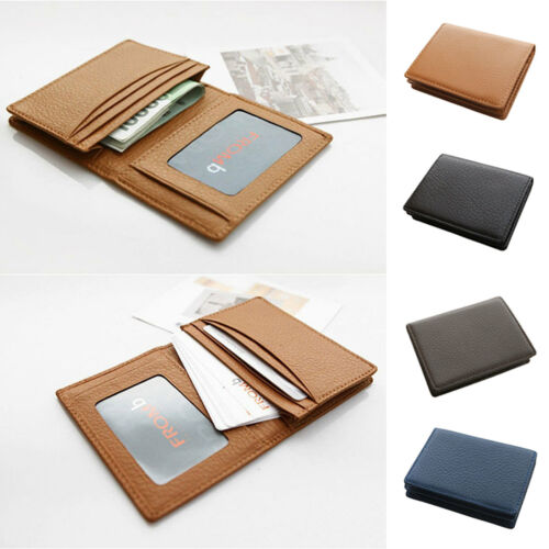 Man Business Card Wallet  Genuine Leather Name Card ID Case Credit Card Holder