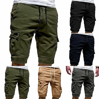 Mens Shorts Gym Sports Jogger Summer Beach Casual Workout Military Cargo Pants