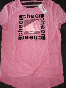 Girls-justice-lattice-bk-cheer-top-size-8-new-hot-pink