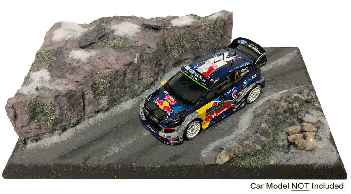 'Mountain Road Stage' Rally 1 43 Scale Lightweight Model Display Base