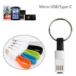 Magnetic Micro Usb Type-c Charger Data Charging Cable Cord Keychain 9cm Short Micro Usb Charger Data Cable Cord Usb-c Cable Chargers