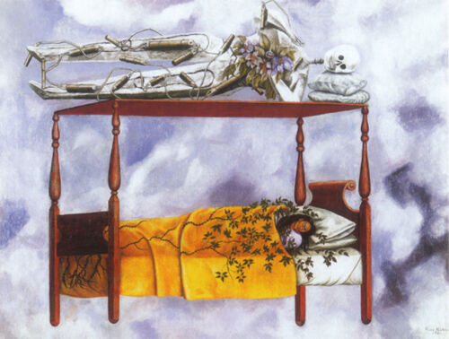 """The Dream  by Frida Kahlo  14/""""  Paper Print Repro"""