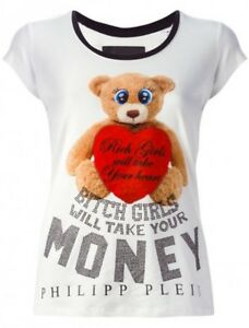 0b5ac3bbb1 Dettagli su T-Shirt Donna Your Money Philipp Plein