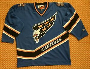 super popular 4dcb1 1cff4 Details about Washington Capitals, Vintage NHL Jersey by Pro Player, Mens XL