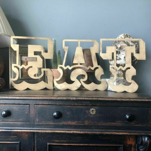 CARNIVAL LETTERING B RUSTIC GOLD METAL LETTER VINTAGE RETRO HOME SHOP SIGN