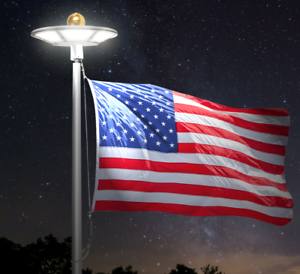 New-Solar-Flagpole-Light-120-LED-039-S-Brightest-Anywhere-800-Lux-Free-Shipping
