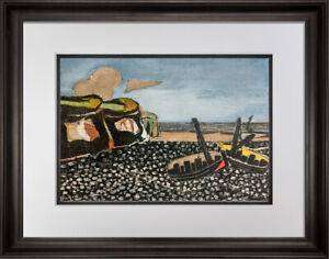 Georges-BRAQUE-Lithograph-034-Barques-Bleues-034-Limited-Edition-SIGNw-Frame