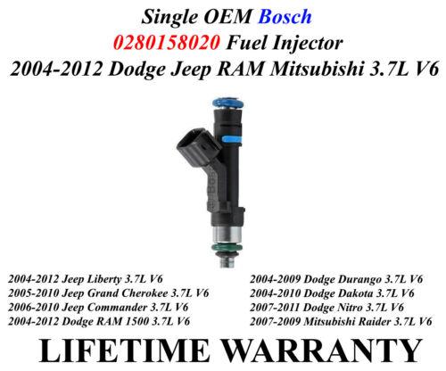 Single Genuine Bosch Fuel Injector For 2005-2010 Jeep Grand Cherokee 3.7L V6