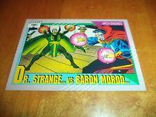 Dr. Strange vs. Baron Mordo 110 1991 Marvel Universe Series 2 Impel Base Card