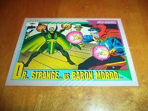 Strange vs Dr Baron Mordo 110 1991 Marvel Universe Series 2 Impel Base Card