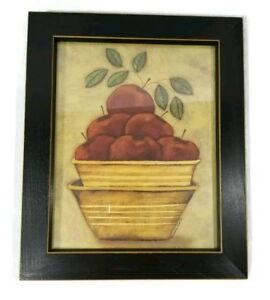 Details About Apple Decor Black Wooden Framed Apple Wall Hanging Decor Country Rustic Wall Art