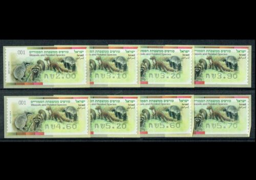 SALE!!! Israel ATM 2014 Weasles & Related Species Complete Set 8 Values