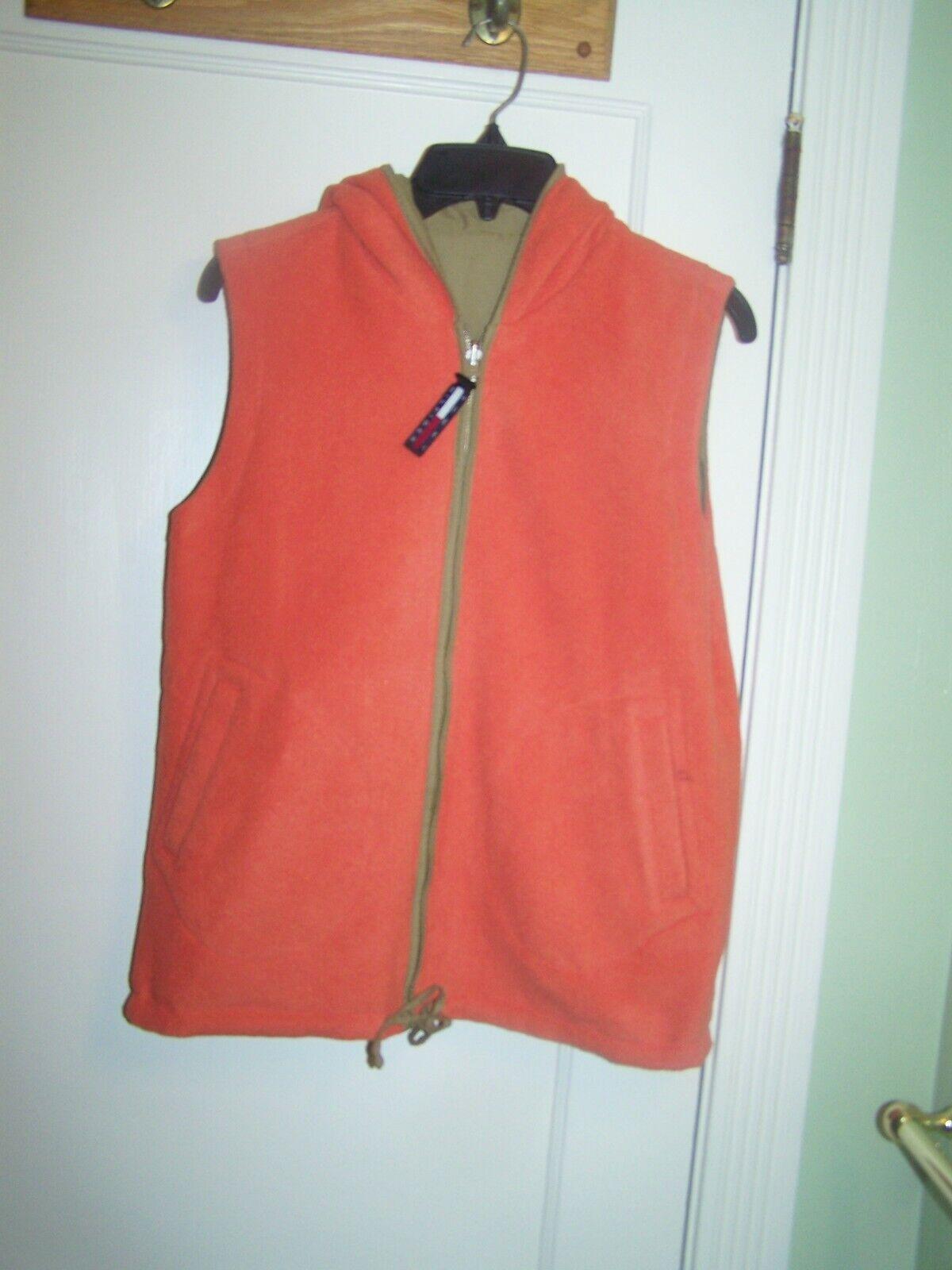 Tommy Hilfiger Vest Reversible Large Orange - image 1