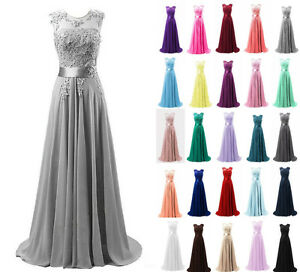 Chiffon long evening party ball gown prom dress bridesmaid for Wedding dresses from china on ebay