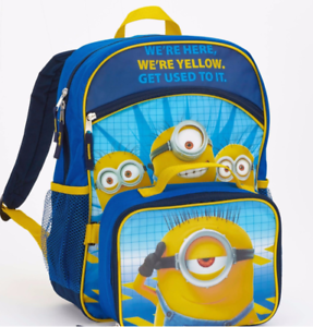 b6ba00f2fcc8 Details about Despicable Me Minions Backpack with Detachable Insulated  Lunch Box NEW