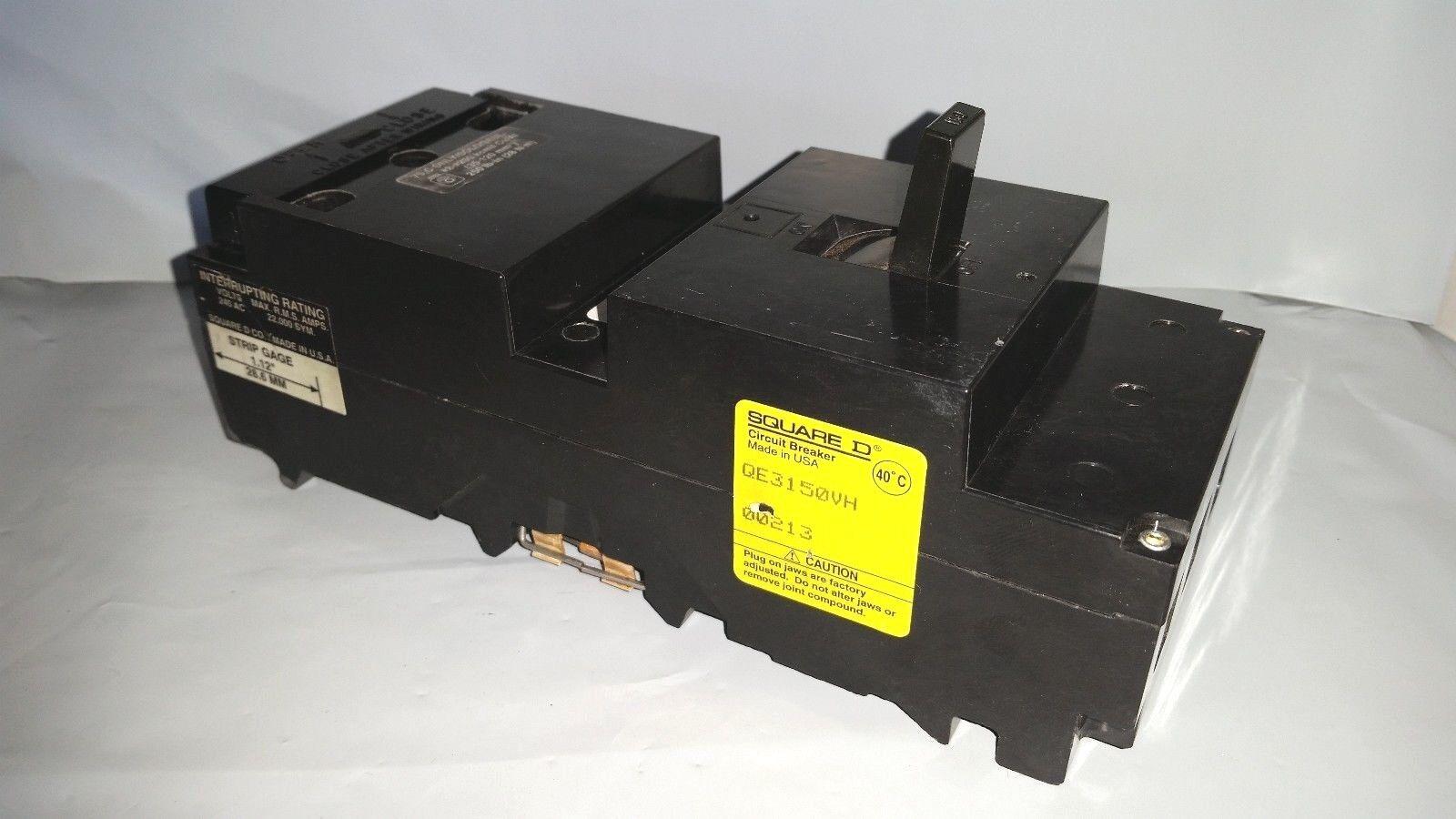 Square D Qe3150vh 3 Pole 150 Amp Circuit Breaker Ebay 20a Afci Chfcaf120neweggcom