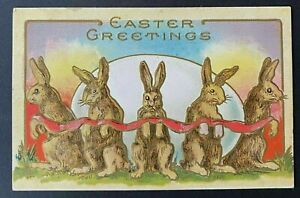 Bunny-Rabbits-with-Red-Ribbon-Around-Egg-Antique-Easter-Postcard-p687