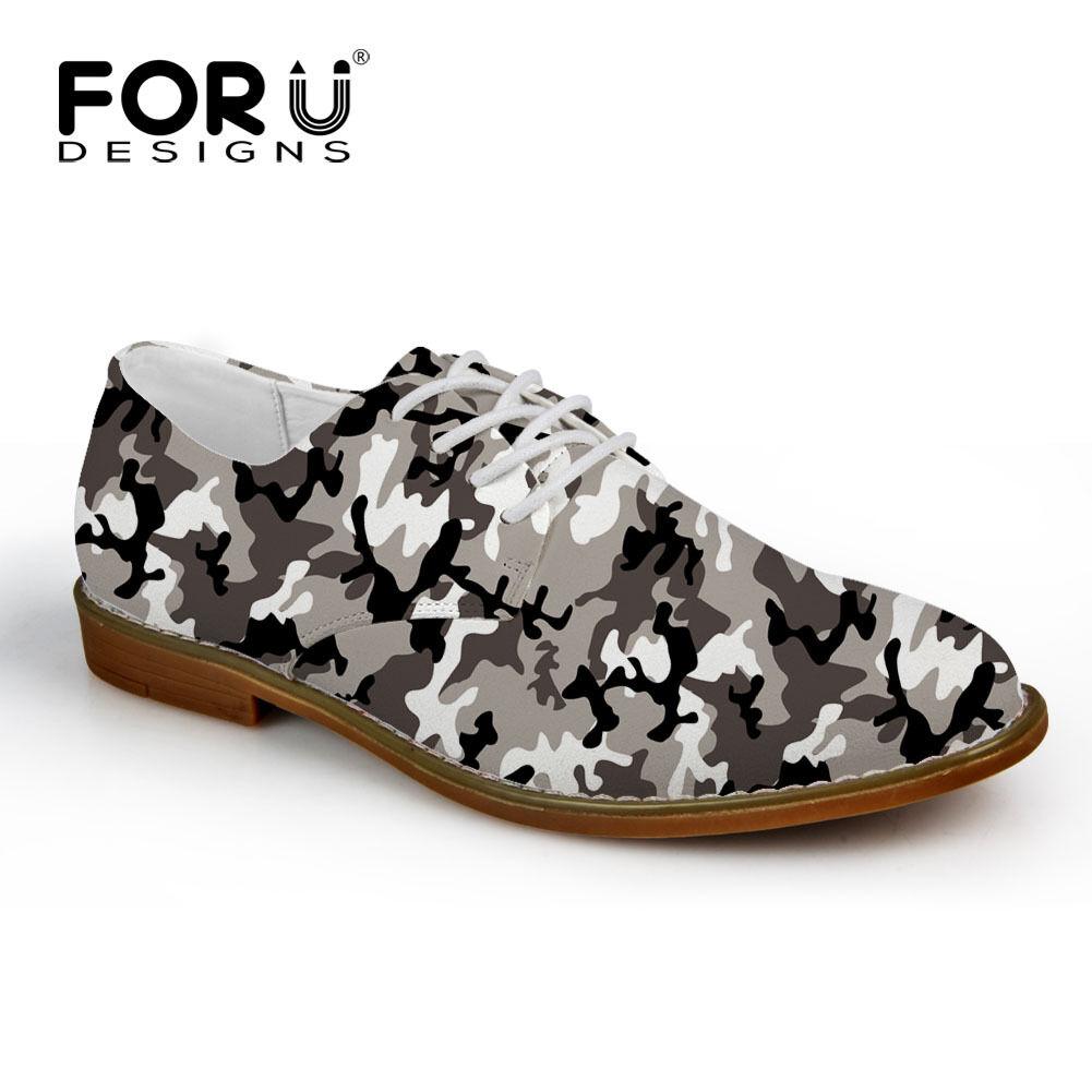 Boys Men Camo shoes Lace-up Oxford shoes Anti-slip Casual Soft Sole Single shoes
