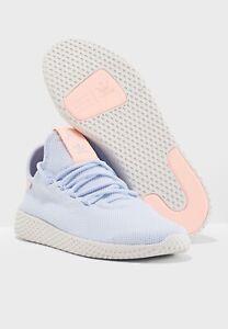 asentamiento Respetuoso vídeo  Adidas Originals Pharrell Williams PW Tennis Hu Blue Pink White B41884 / US  11 | eBay