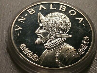 Rare Silver Proof Panama 1968 Half Balboa~Only 23,210 Minted~Free Shipping