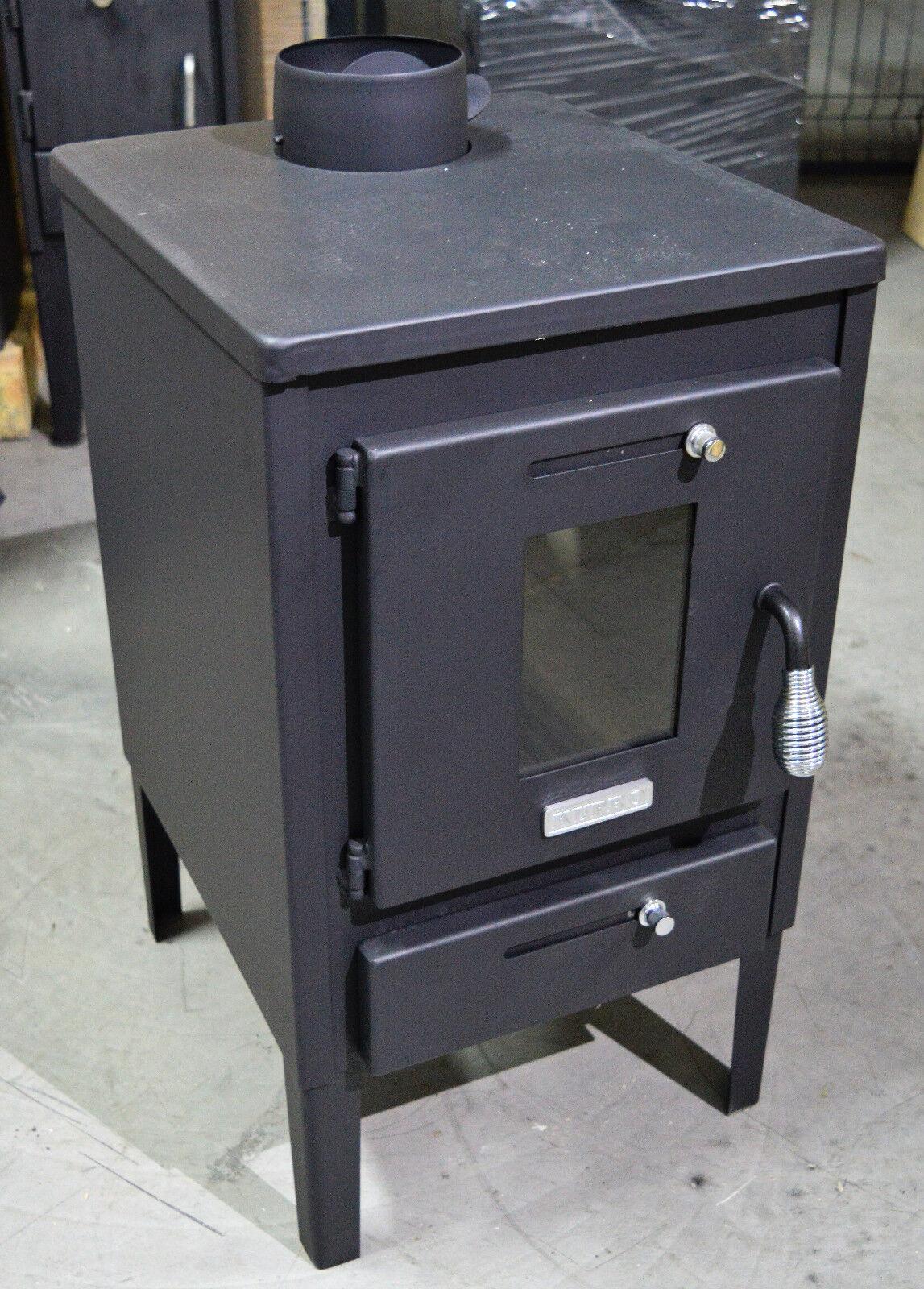 holz verbrennung herd holzofen kamin mini 8kw mit stahl deckel und klappe ebay. Black Bedroom Furniture Sets. Home Design Ideas