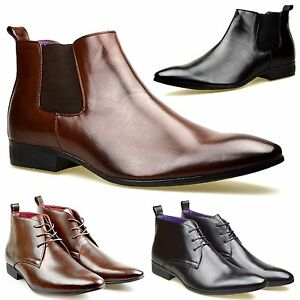 Mens-Leather-Lined-Smart-Formal-Casual-Lace-Up-Boots-Shoes-UK-SIZE-6-7-8-9-10-11