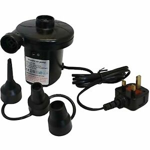 #1 ELECTRIC MAINS PUMP 240V INFLATOR 130W MAINS CAMPING  AIRBED AIR INFLATOR***