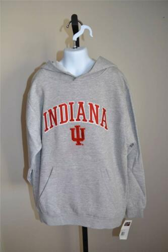 8-10//12-14//16 NEW-Minor-Flaw Indiana Hoosiers Youth Sizes S-M-L Gray Hoodie