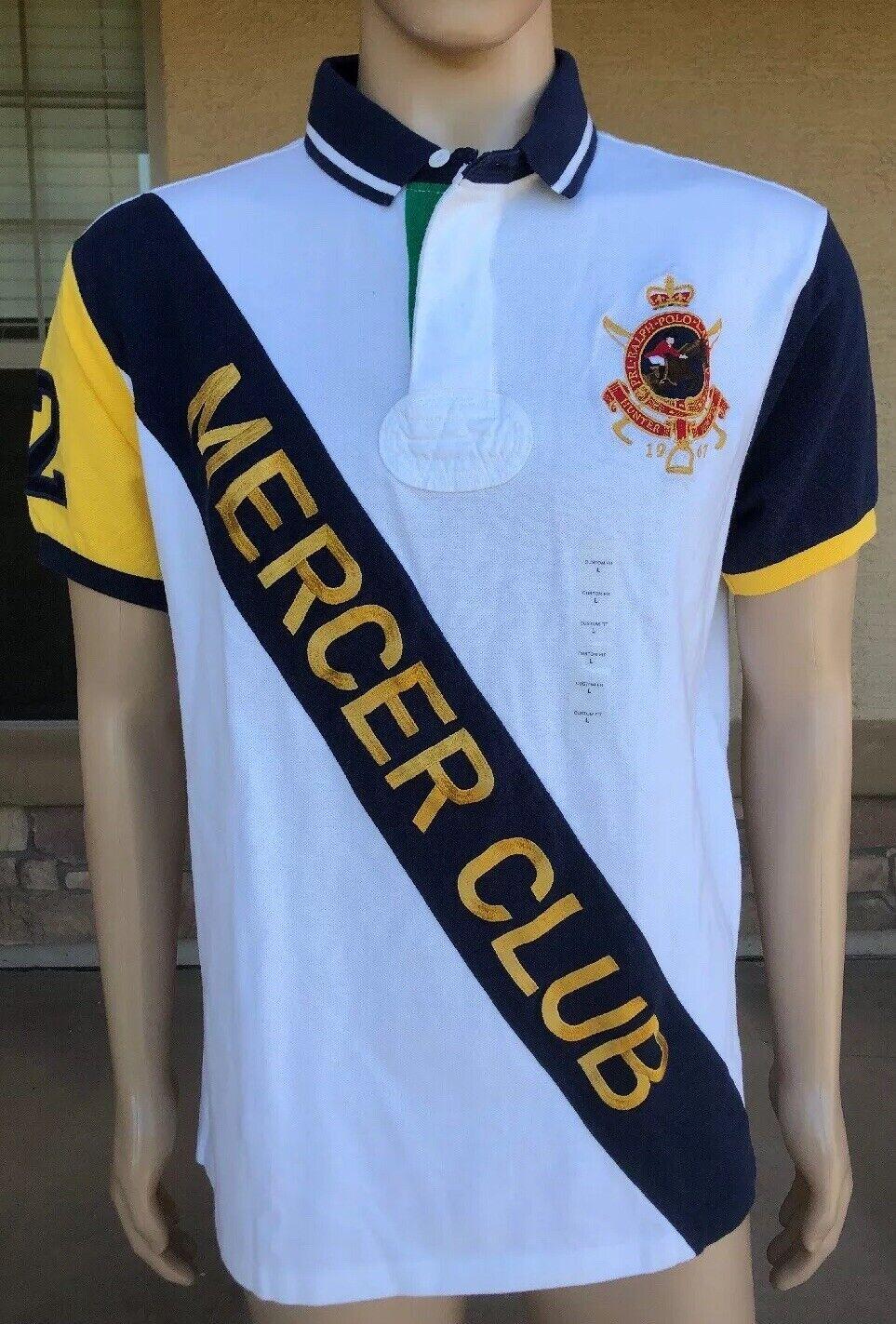 NWT Polo Ralph Lauren Shirt Mercer Club Hunter Jumper 1967 Size Large PRL