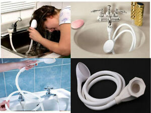 Image Is Loading SINGLE DOUBLE TAP BATH SINK SHOWER HEAD HOSE