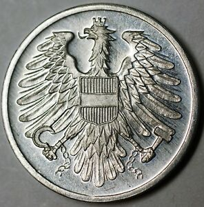 1965-Austria-2-Groschen-Gem-Proof-Aluminum-Eagle-Coin