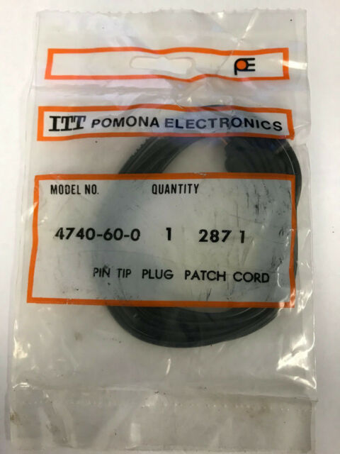 LOT OF 6 POMONA 1081-4 MINI BANANA PLUG PATCH CORD BLACK
