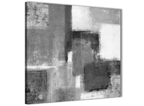 49cm Black White Grey Kitchen Canvas Wall Art Accessories Abstract 1s368s