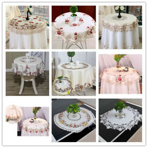 Round-Embroidered-Tablecloth-Floral-Dining-Table-Cloth-Cover-Wedding-Party-85cm