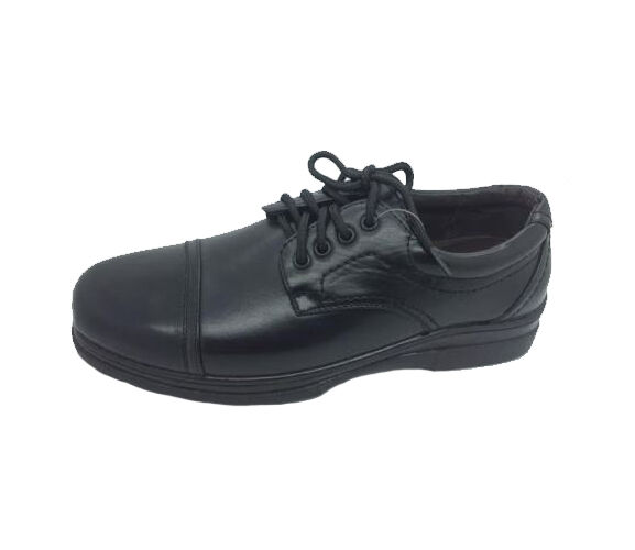 Mens shoes Step On Air Bastion Black Lace Up shoes Size 7-10 New work School etc