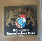 VINTAGE GERMAN BEER LABEL - SCHLOSS KONIGLICH BAYERISCHES BIER - BLACK