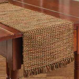 Harvest-Tweed-Table-Runner-Park-Designs-Fall-Autumn-Brown-Pumpkin-Green-Gold-36L