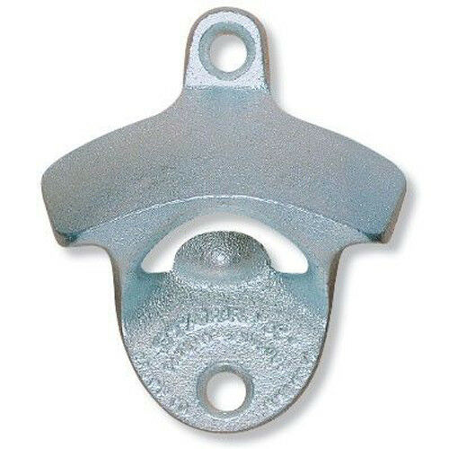 PLAIN Zinc Plated Starr X Wall Mount Stationary Bottle Opener Classic New!
