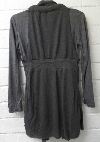 Womens Ladies New Grey Comfy Casual 3 Piece Jumper Top Waistcoat Scarf UK 8-14