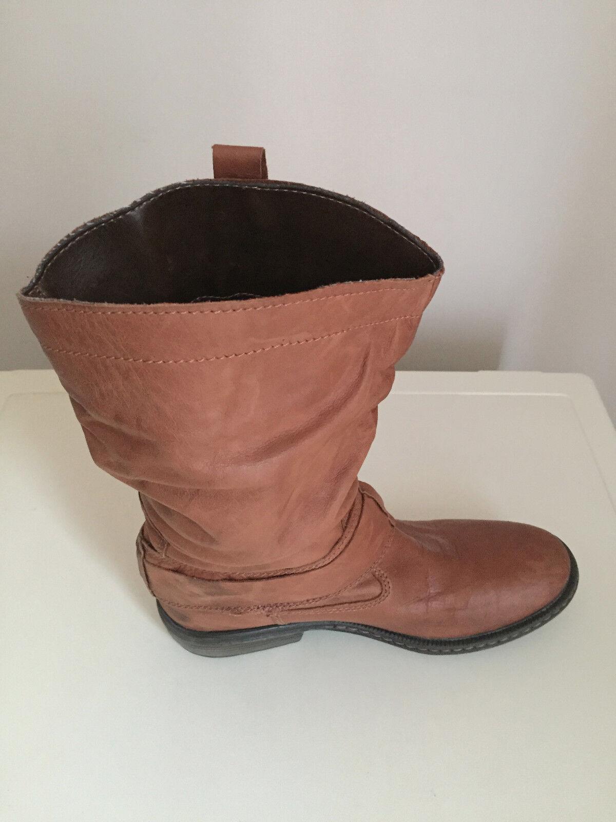 Damens Next Ankle Soft Leder 5  Stiefel Tan Größe 5 Leder 577f78