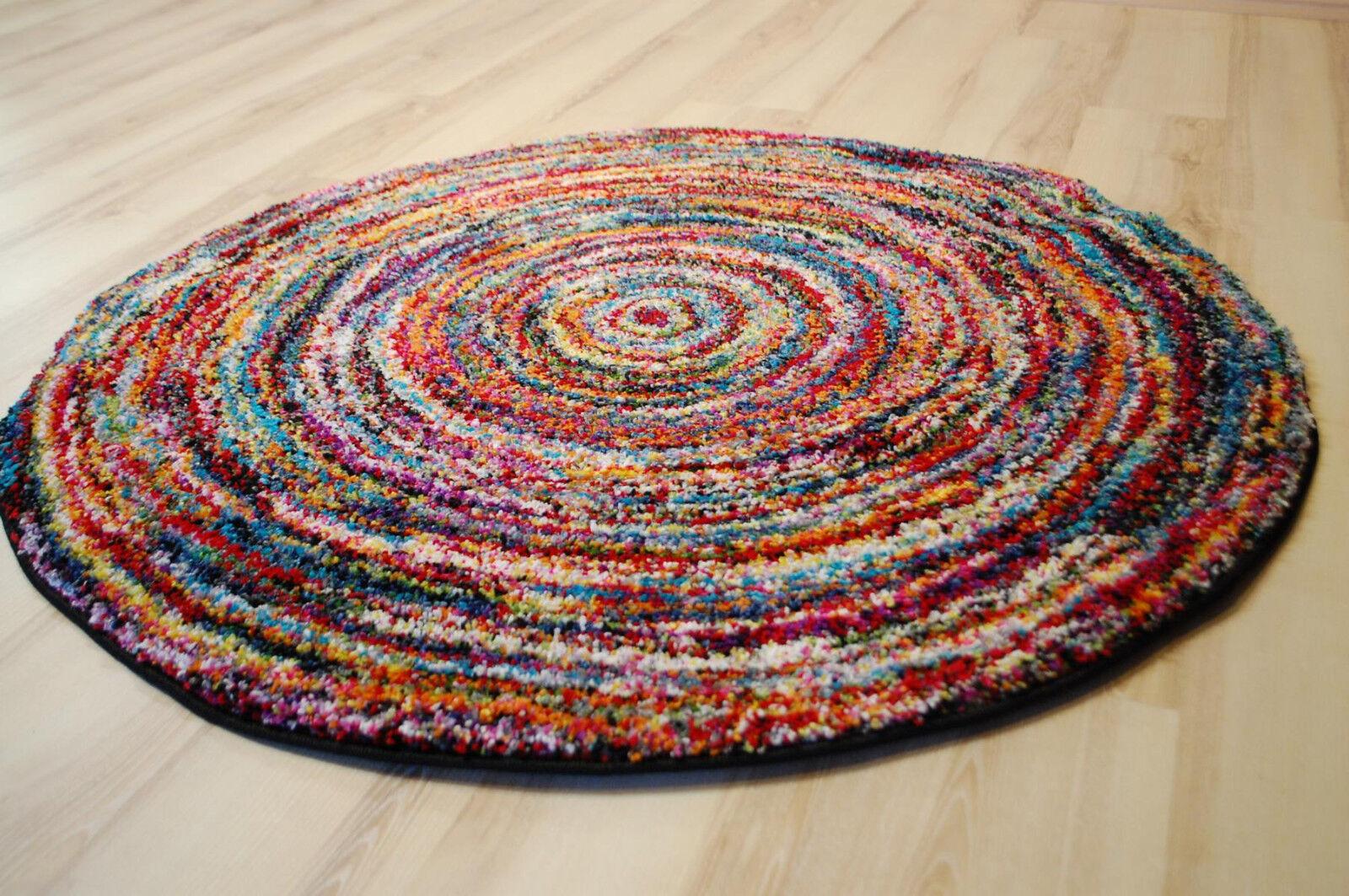 Teppich MultiFarbe Designer SIX05 Round Modern 120x120cm rund bunt