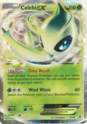 1x Celebi-Ex 9//149 Raro Holo Ex levemente interpretei Pokemon Black And White-Fronteiras Cross