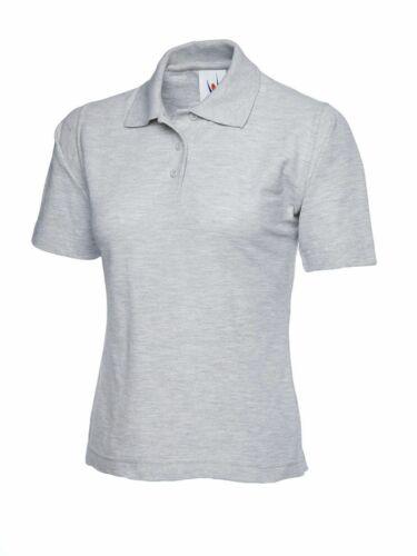 Femmes Poloshirt UNEEK UC106 Casual Plaine Workwear pour Femme-Gris Heather
