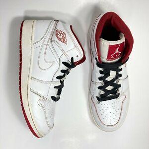 Nike-Air-Jordan-1-Mid-BG-Size-5Y-White-Gym-Red-554725-103