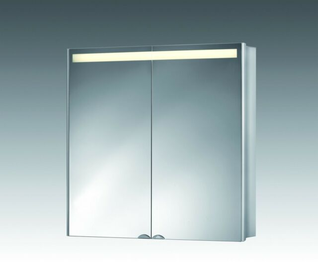 Jokey ALUwave Aluminium Alu Spiegelschrank 2-türig 1247120 Alibert ...
